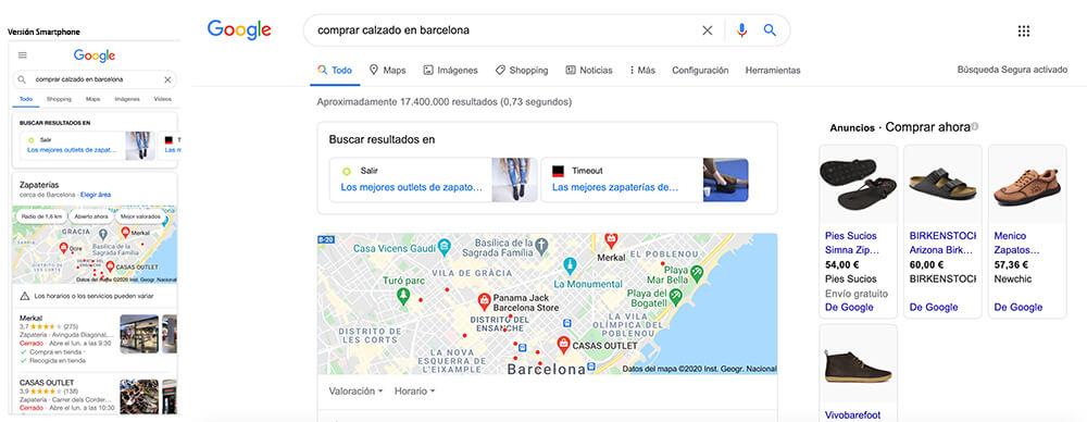 SERP de Google SEO Local